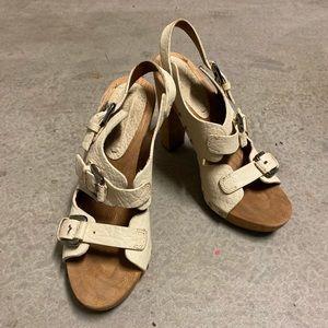 BCBG Wooden Heeled Sandals